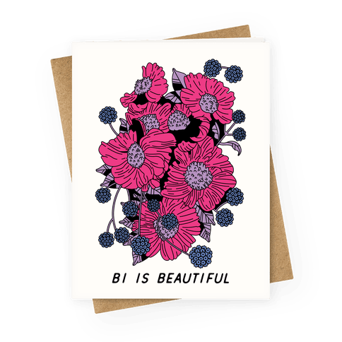 Bi is Beautiful Greeting Card