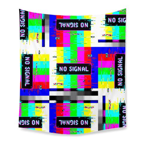 Glitchy No Signal Bars Tapestry