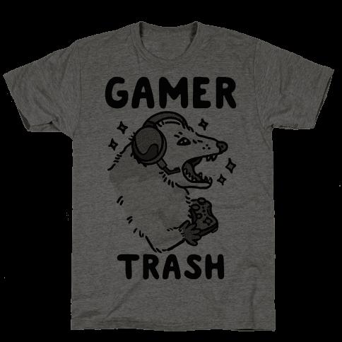 Gamer Trash Opossum Mens/Unisex T-Shirt