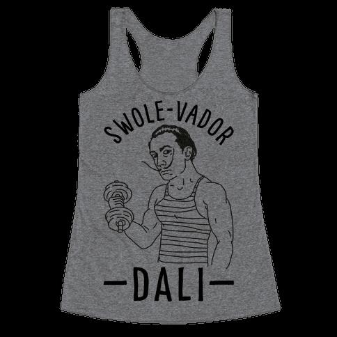 Swole-vador Dali Racerback Tank Top