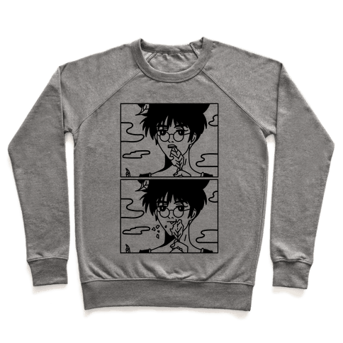 Anime Guy Eating a Leaf Pullover