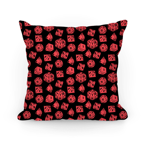 RPG Dice Pattern Pillow