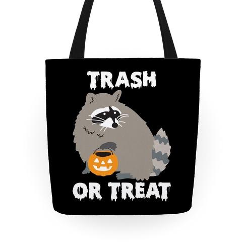 Trash Or Treat Raccoon Tote