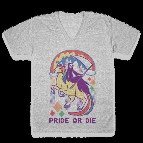 Pride or Die V-Neck Tee Shirt