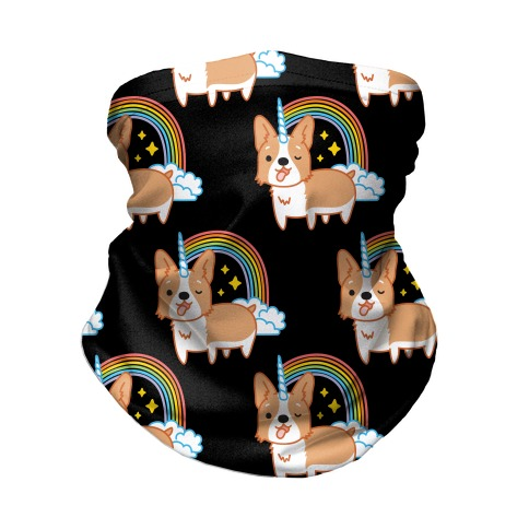 Unicorgi Corgi Unicorn Neck Gaiter