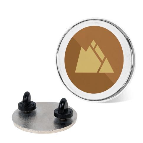 Rock Type Gym Leader Badge Pin