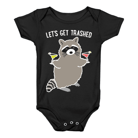 Let's Get Trashed Margarita Raccoon Baby Onesy