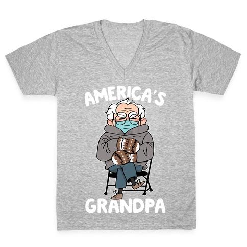 America's Grandpa V-Neck Tee Shirt