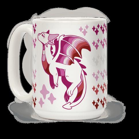 Lesbian Pride Dragon Coffee Mug