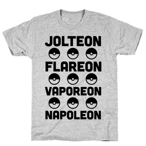 Jolteon Flareon Vaporeon Napoleon T-Shirt
