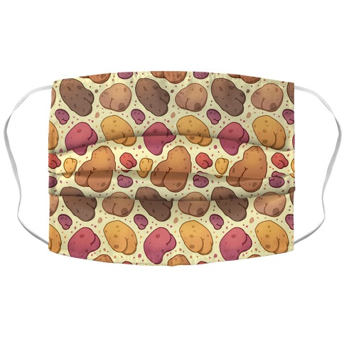 Potato Butts Pattern Accordion Face Mask