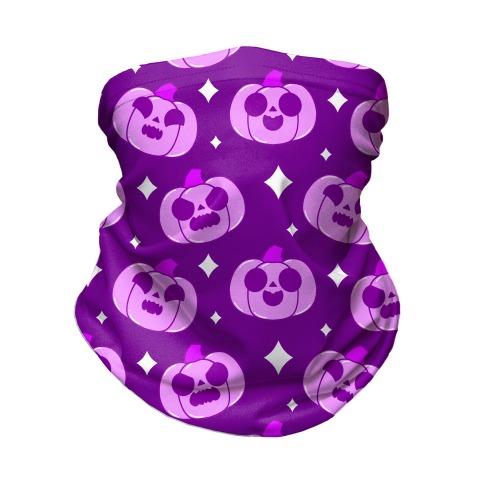 Kawaii Pumpkins Pattern Purple Neck Gaiter