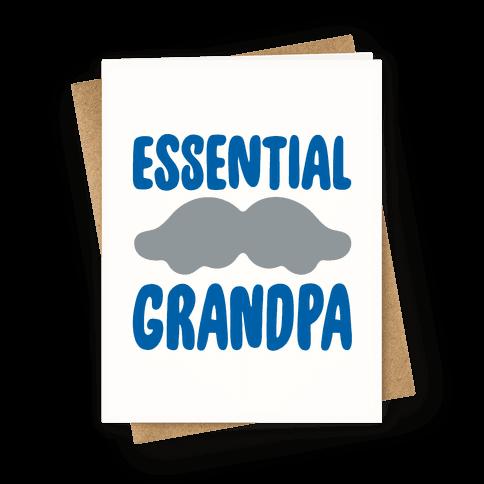 Essential Grandpa  Greeting Card