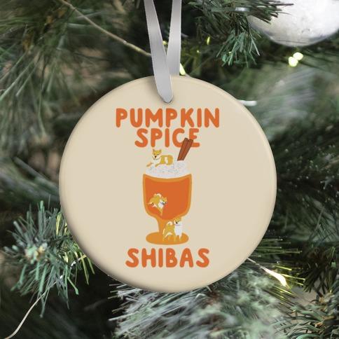 Pumpkin Spice Shibas Ornament