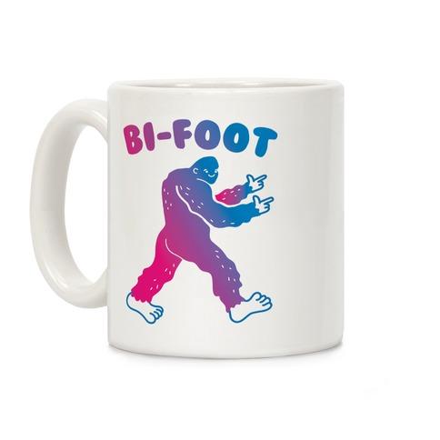 Bi-Foot Bisexual Bigfoot Coffee Mug