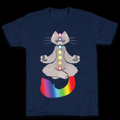 Chakra Cat Mens T-Shirt