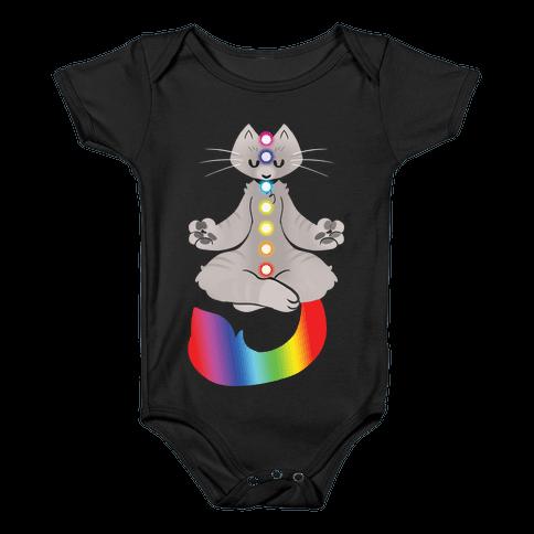 Chakra Cat Baby Onesy