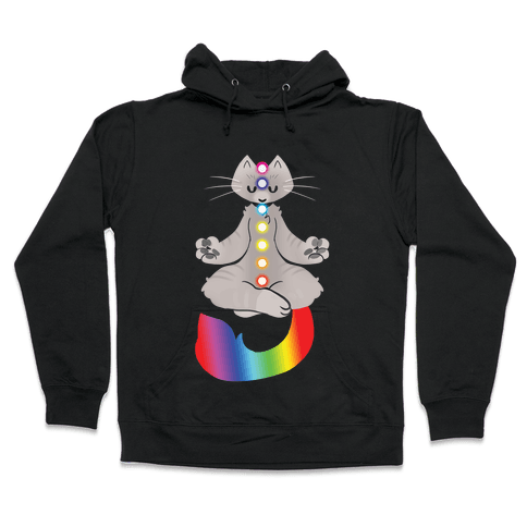 Chakra Cat Hooded Sweatshirt