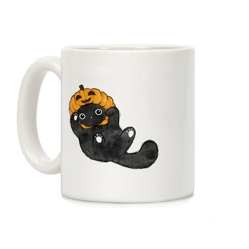 Halloween Pumpkin Cat  Coffee Mug
