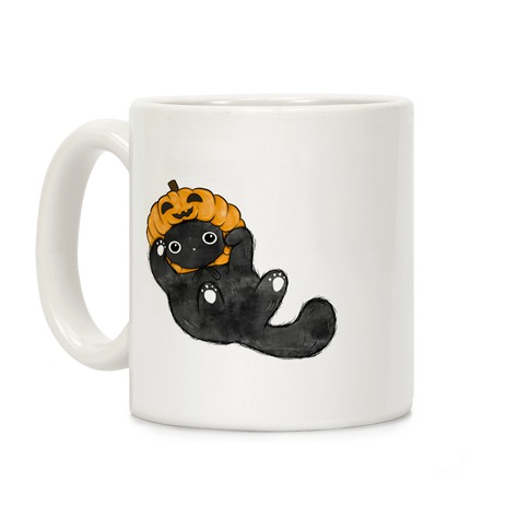 Pumpkin Cat Coffee Mug