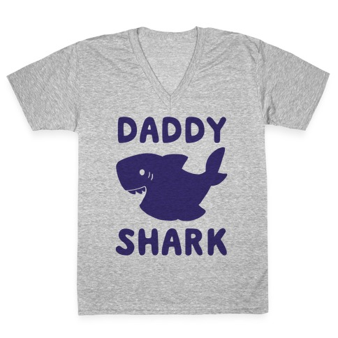 Daddy Shark (1 of 5 set) V-Neck Tee Shirt