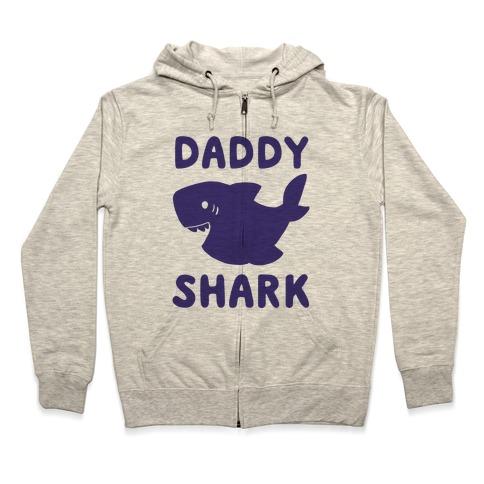 Daddy Shark (1 of 5 set) Zip Hoodie