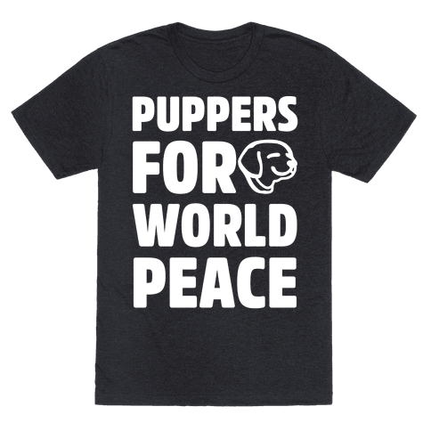 Puppers For World Peace White Print