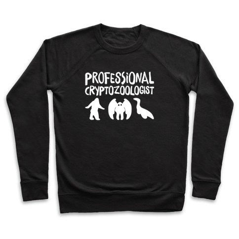 Professional Cryptozoologist White Print Pullover