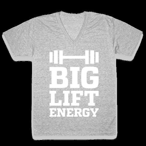 Big Lift Energy V-Neck Tee Shirt