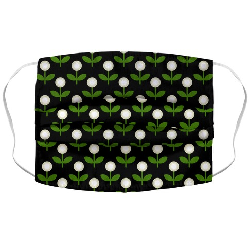 Dainty Retro Dandelions Black Pattern Accordion Face Mask