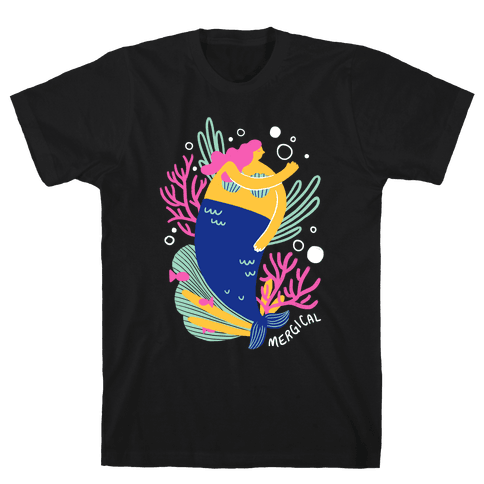 Mergical Mermaid Mens T-Shirt
