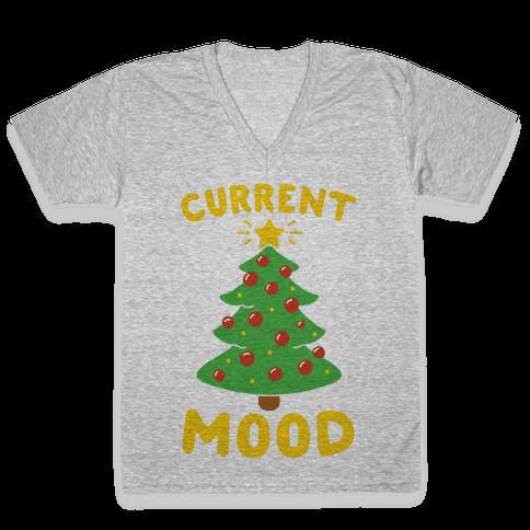 Current Mood Christmas  V-Neck Tee Shirt