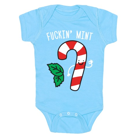 F***in' Mint Candy Cane Baby Onesy