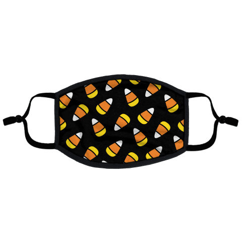 Candy Corn Pattern Flat Face Mask