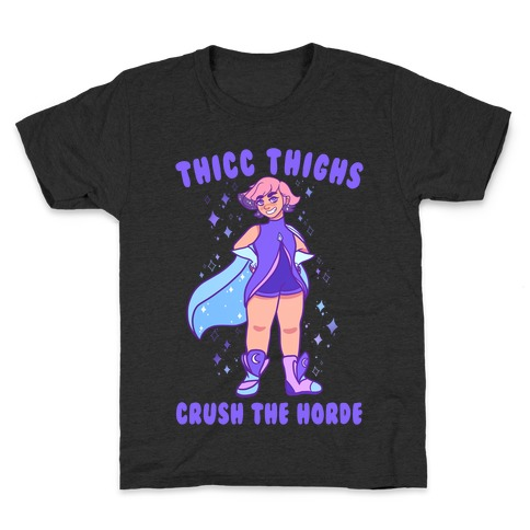 Thicc Thighs Crush The Horde Kids T-Shirt