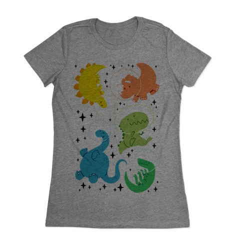 Space Dinos Womens T-Shirt