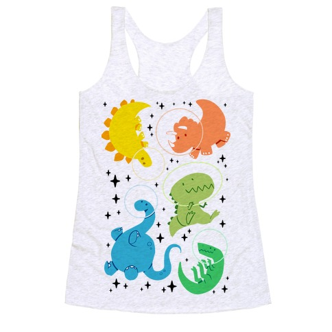 Space Dinos Racerback Tank Top