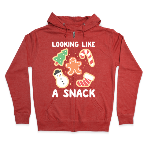 Looking Like A Snack Christmas Cookies Zip Hoodie