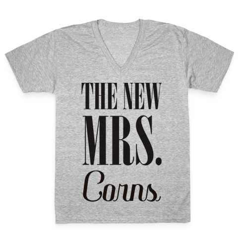The Future Mrs Corns V-Neck Tee Shirt