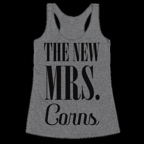 The Future Mrs Corns Racerback Tank Top