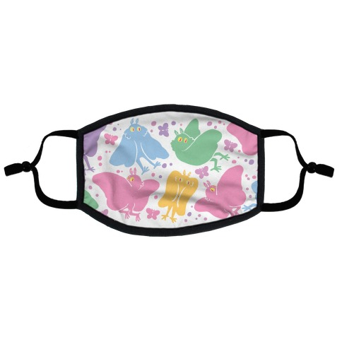 Cute Pastel Mothman Pattern Flat Face Mask
