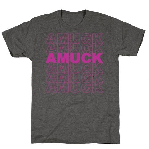 Amuck Amuck Amuck Thank You Hocus Pocus Parody White Print T-Shirt