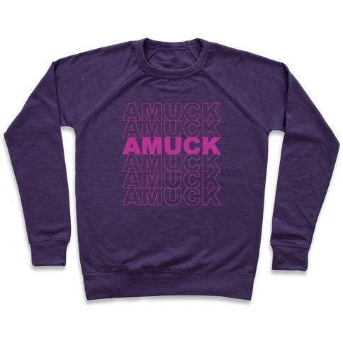 Amuck Amuck Amuck Thank You Hocus Pocus Parody White Print Pullover