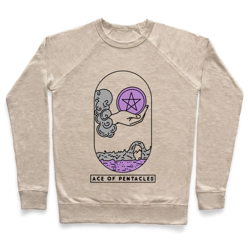 Ace of Pentacles Asexual Pride Pullover