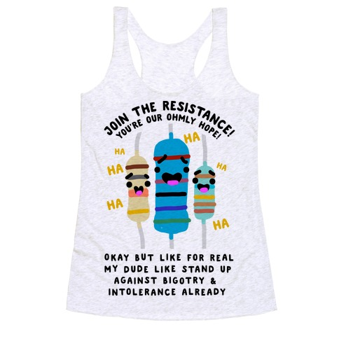 Join the Resistance  Racerback Tank Top
