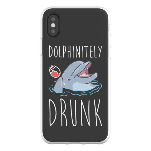 Dolphinitely Drunk Phone Flexi-Case