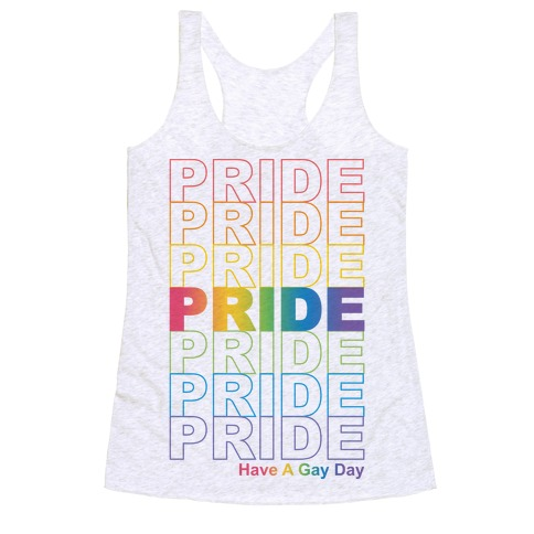 Pride Thank You Bag Parody Racerback Tank Top
