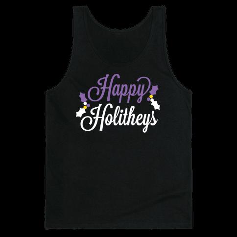 Happy Holitheys! Non-binary Holiday Tank Top