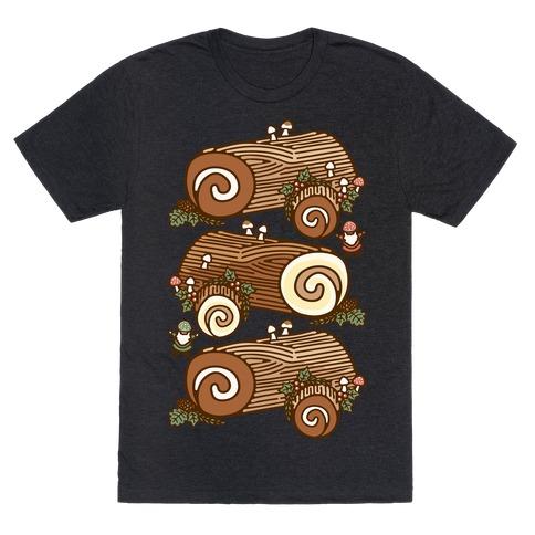 Holiday Yule Logs White Print T-Shirt