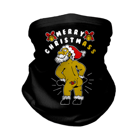 Merry ChristmAss Neck Gaiter